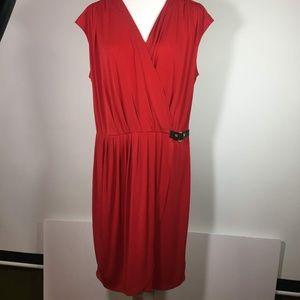 Michael Michael Kors Red Faux Wrap Dress NWT XL